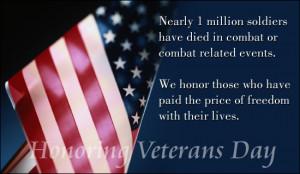 Honoring Veteran's Day Ecard
