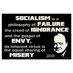Churchill Socialism Quote Posters