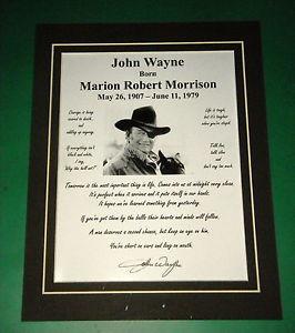 JOHN-WAYNE-MATTED-8-QUOTE-PHOTO-REPRINT-SIGNATURE-DISPLAY-AMERICAN ...
