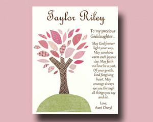 Goddaughter gift - Gift for Goddaughter - Personalized gift for ...
