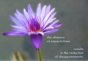 The Absence of expectations results in the reduction of ...