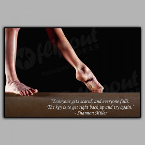 Try Again Gymnastics Motivational Poster