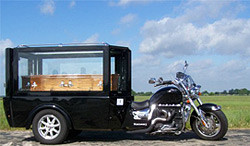 The Rocket hearse: a unique funeral vehicle for bikers