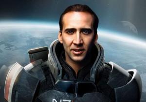 Nicolas Cage as Commander Shepard
