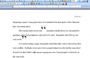 How to write a quote in a paper
