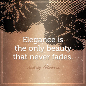 """Elegance is the only beauty that neverfades""""- Audrey Hepburn #quotes ..."""