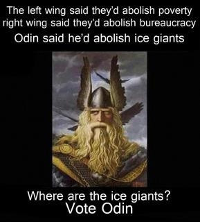 block captain for Odin--let's get out the Viking vote!