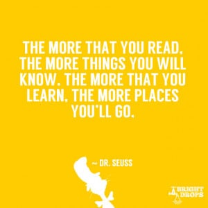 ... you will know. The more that you learn, the more places you'll go