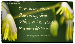 Peace in my Heart Peace in my Soul (Daily Quote Picture Message)