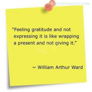 Feeling Gratitude And Not Expressing