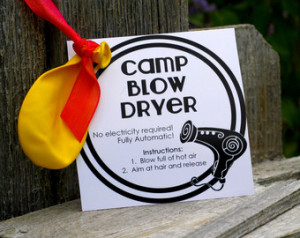 ... camp handout - Blow dryer INSTANT download / Young Women LDS quotes