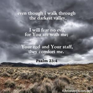 Psalm 23:4 Bible Verse - Darkest Valley - cloudy sky