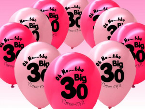 perfect for celebrating a 30th birthday these stylish balloons are a ...