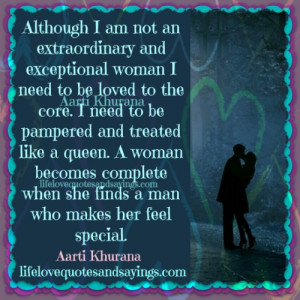 Man Makes A Woman Complete..