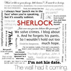 Sherlock and Watson quotes.