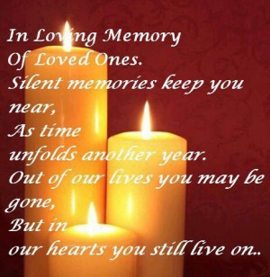 In Loving #Memory Of Loved Ones.
