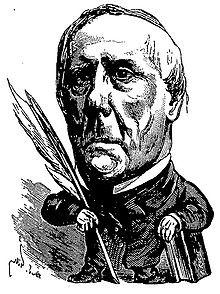 Edgar Quinet vu par André Gill. Portrait paru en 1873 dans Le ...