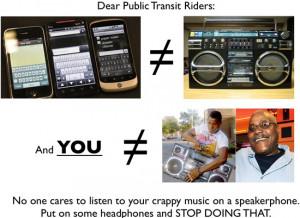 dear public transit riders