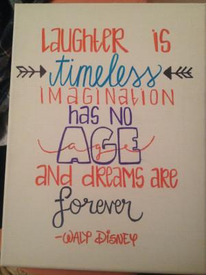 Walt Disney Canvas Quote