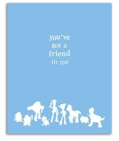 ... toy story print friends buzz lightyear woody kids quote movie quote