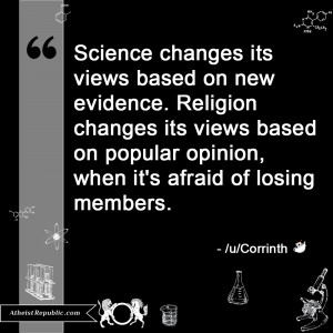 Religion vs. Science on changing their views