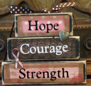 Hope, Courage, Strength Breast Cancer Awareness