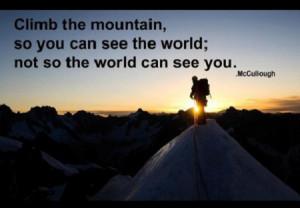 Mountain Climbing Quotes Inspirational