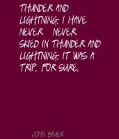 Thunder and Lightning Quotes