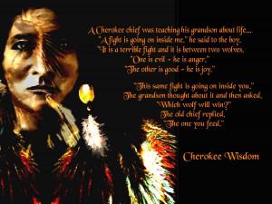 Cherokee Wisdom Digital Art - Cherokee Wisdom Fine Art Print