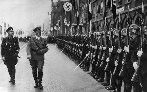 Adolf Hitler and his chief of police Heinrich Himmler inspecting the ...