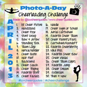 Cheer Quotes / April's Cheerleading Photo Challenge! #cheerleading # ...