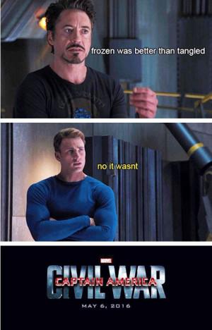 ... Captain America, Funny, America Civil, Cap Side, Agre Captain, War