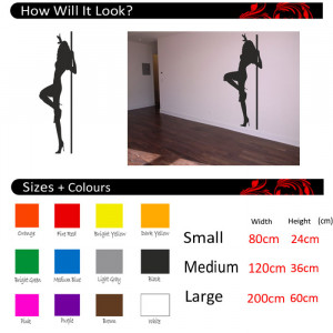 Details about Pole Dancer Vinyl Wall Quote,Wall Stickers, Wall Decals ...