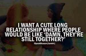Want A Cute long Relationship