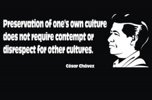 Here are quotes from Cesar Chavez from the site http://www.brainyquote ...