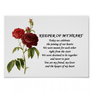 Heart Keeper 3_Wedding Anniversary Love Poem Gift by Injete