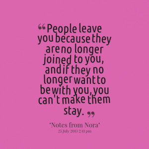 quotes about people leaving you