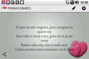 view bigger daily poems in spanish for android screenshot
