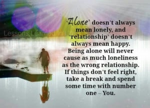 Alone, but not lonely