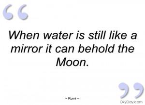 when water is still like a mirror it can