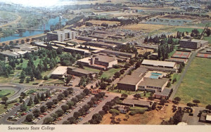 "Vintage postcard of CSUS, circa 1968. And I quote "" Sacramento State ..."
