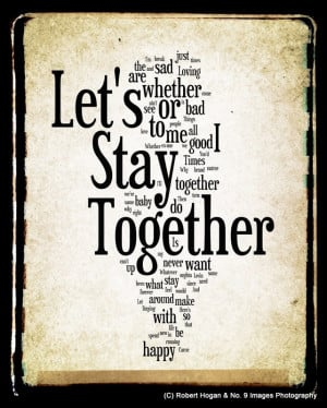 Let's Stay Together - Al Green - Word Art 8x10 Woodblock Print - via ...