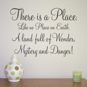 THERE IS A PLACE - Alice in Wonderland Quote - WA090X