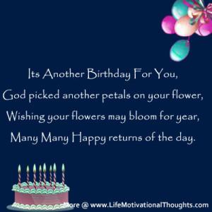 Inspirational Happy Birthday Wishes | Motivational Quotes, Birthday ...