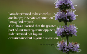 am determined to be cheerful... quote wallpaper
