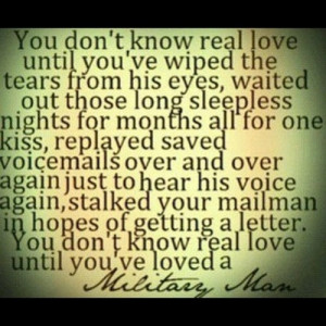 ... but there is definitely something sweet about loving a military man