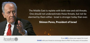 Famous Quotes About Israel : Shimon Peres : Mike Evans : Jerusalem ...