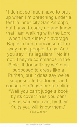 Paul Washer modesty quote