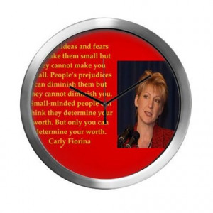 2016 Gifts > 2016 Living Room > carly fiorina quote Modern Wall Clock