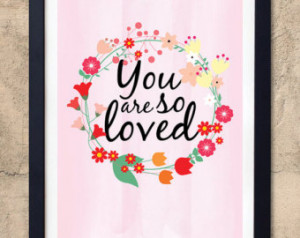 You Are So Loved // Nursery room de cor // Nursery quote // Wall quote ...
